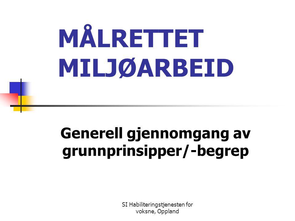 MÅLRETTET MILJØARBEID