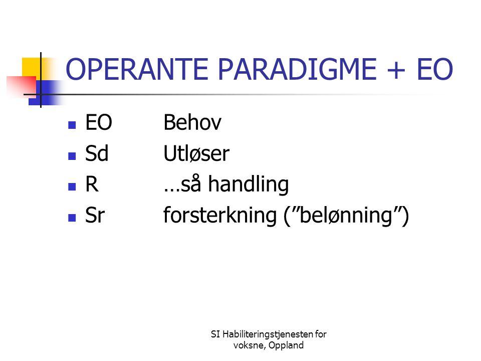 OPERANTE PARADIGME + EO