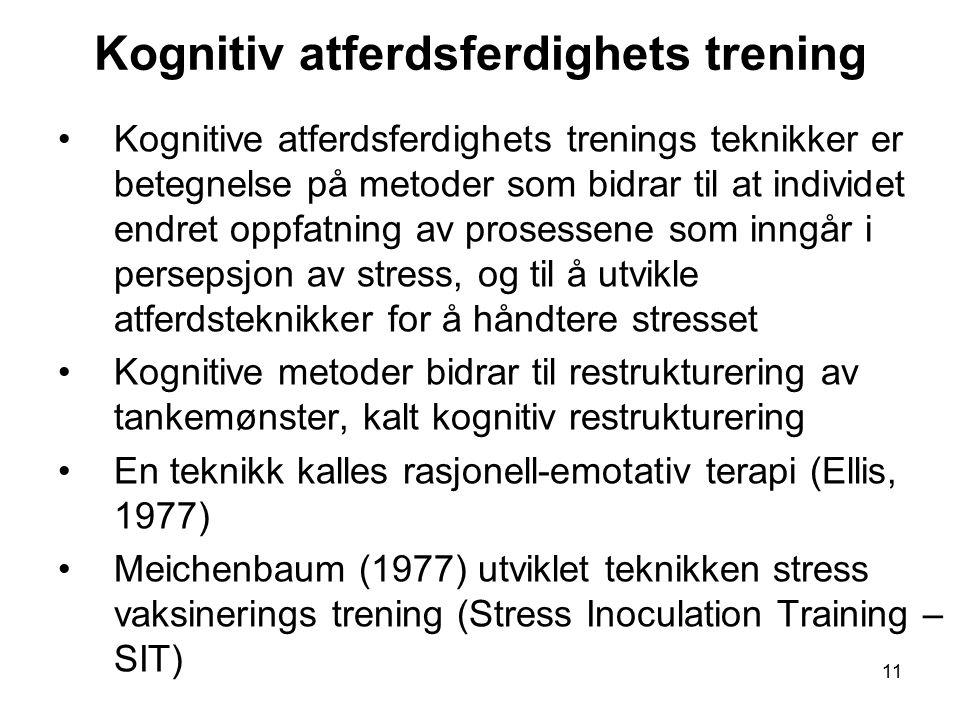 Kognitiv atferdsferdighets trening