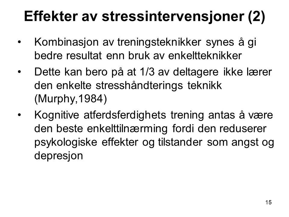 Effekter av stressintervensjoner (2)