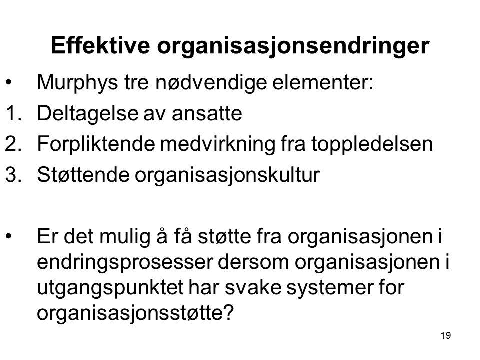 Effektive organisasjonsendringer
