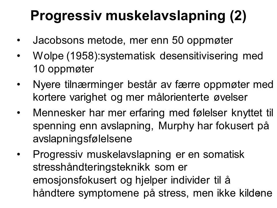 Progressiv muskelavslapning (2)