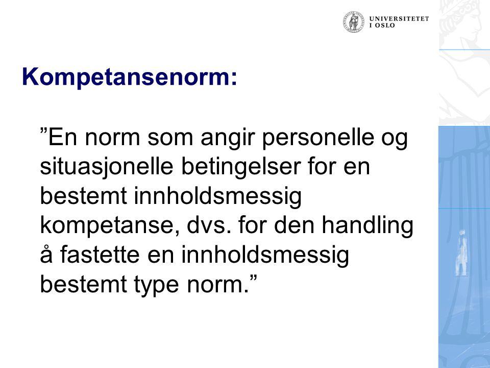 Kompetansenorm:
