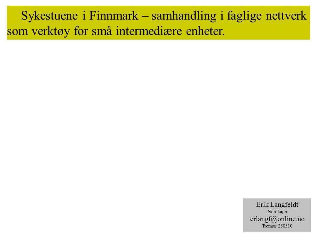 Sykestuene i Finnmark – samhandling i faglige nettverk