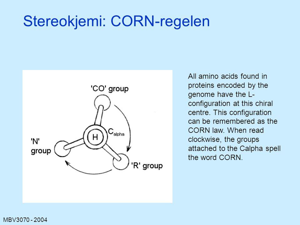 Stereokjemi: CORN-regelen