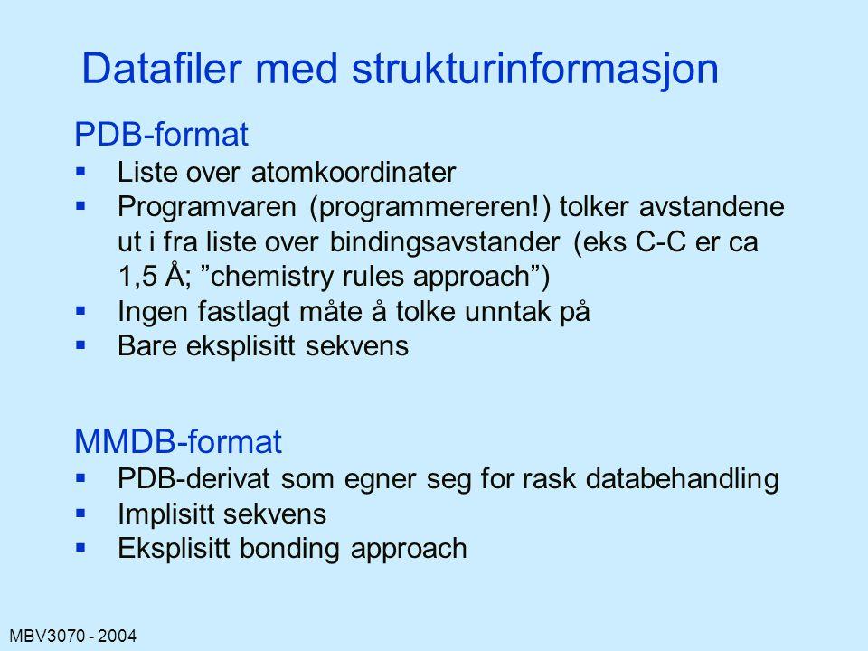 Datafiler med strukturinformasjon