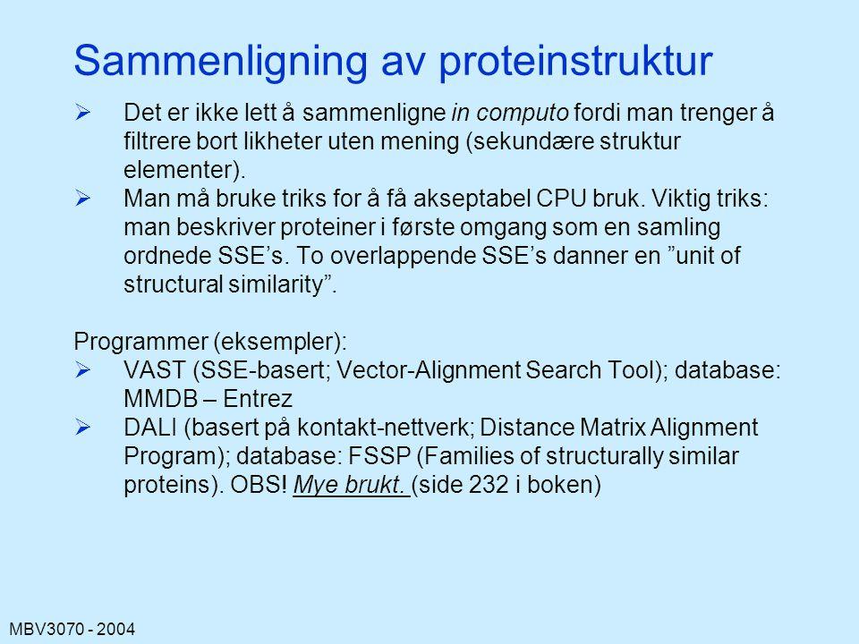 Sammenligning av proteinstruktur