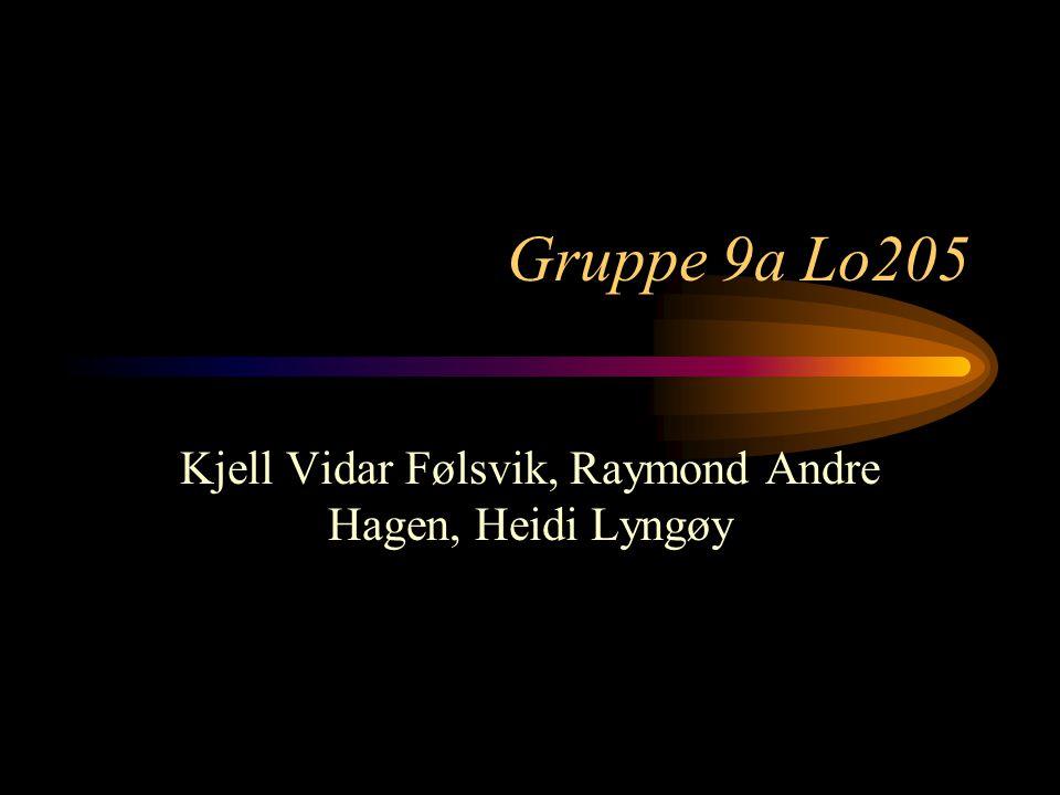 Kjell Vidar Følsvik, Raymond Andre Hagen, Heidi Lyngøy