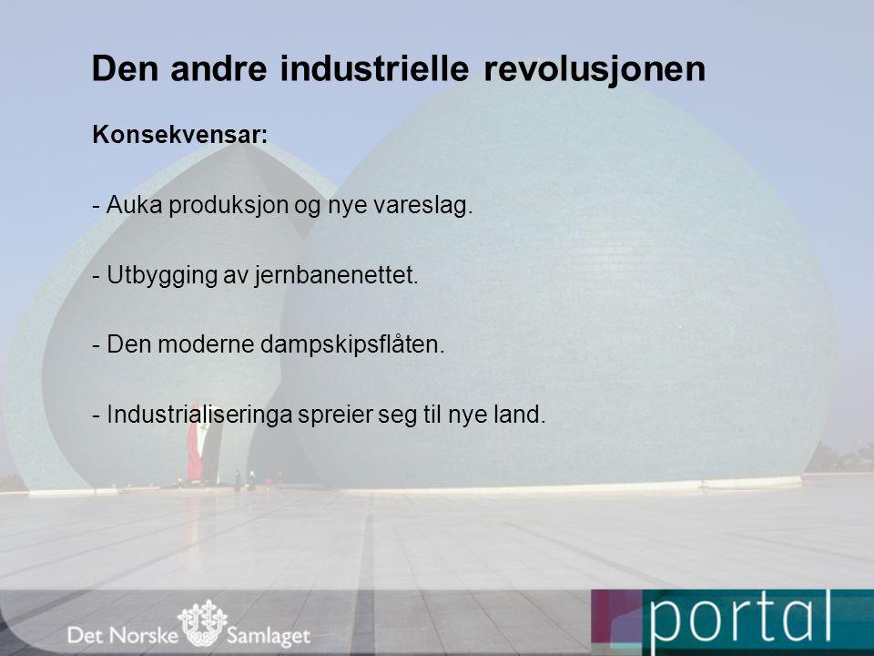 Den andre industrielle revolusjonen