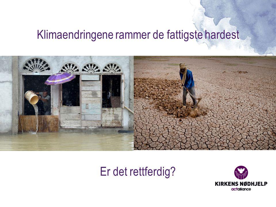 Klimaendringene rammer de fattigste hardest