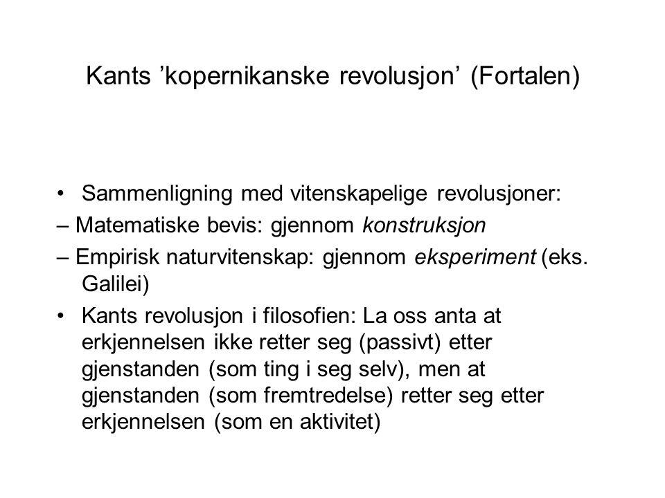 Kants 'kopernikanske revolusjon' (Fortalen)