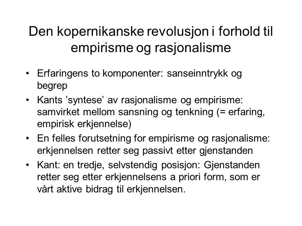 Den kopernikanske revolusjon i forhold til empirisme og rasjonalisme