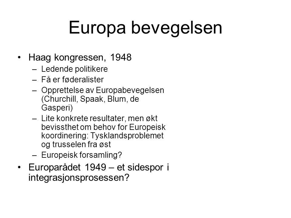 Europa bevegelsen Haag kongressen, 1948