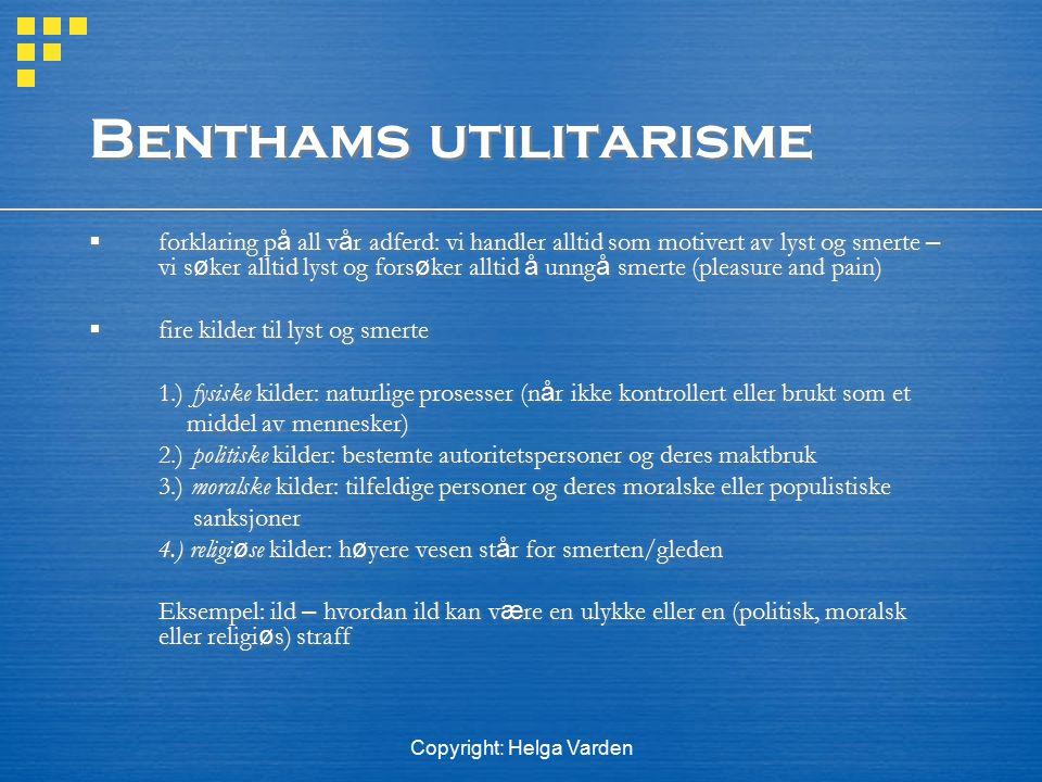 Benthams utilitarisme
