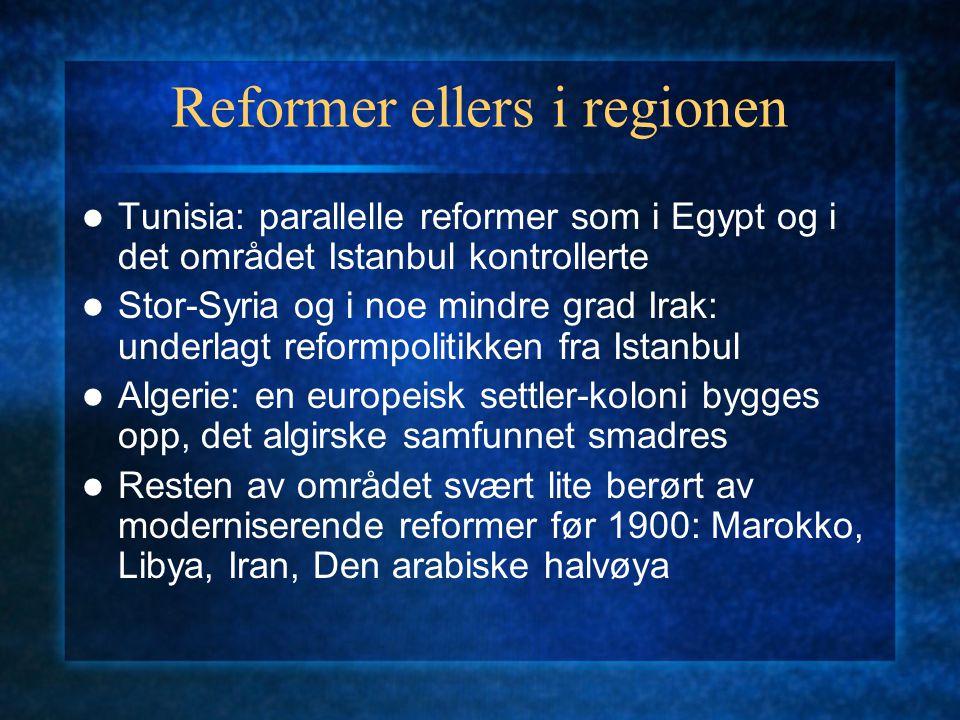 Reformer ellers i regionen