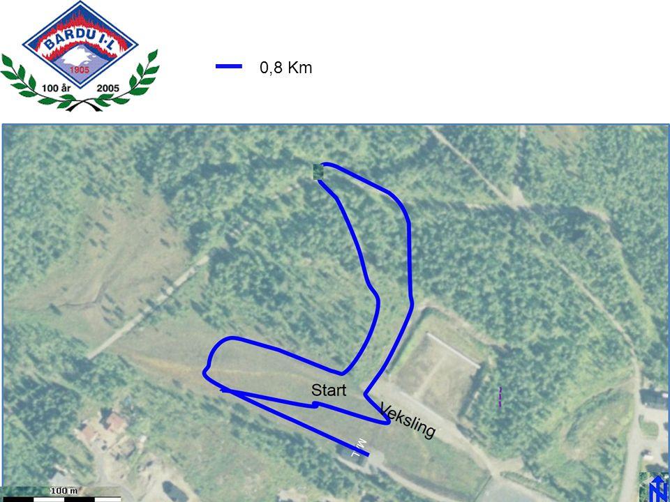 0,8 Km