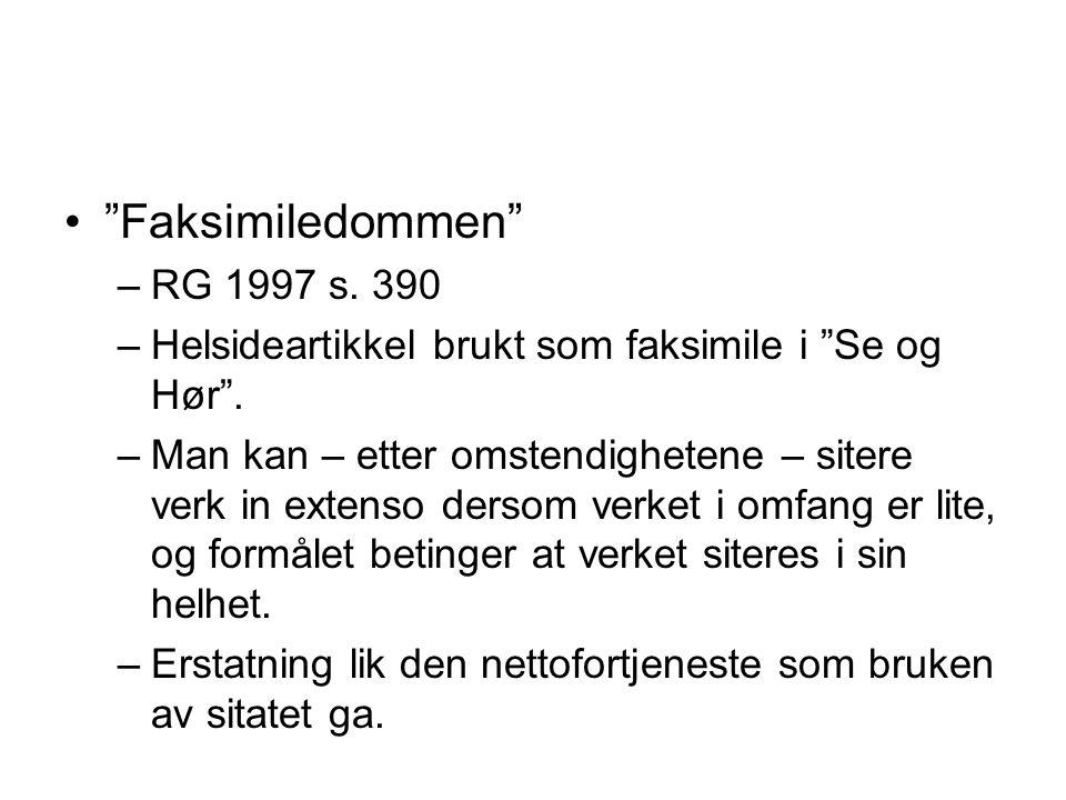 Faksimiledommen RG 1997 s. 390
