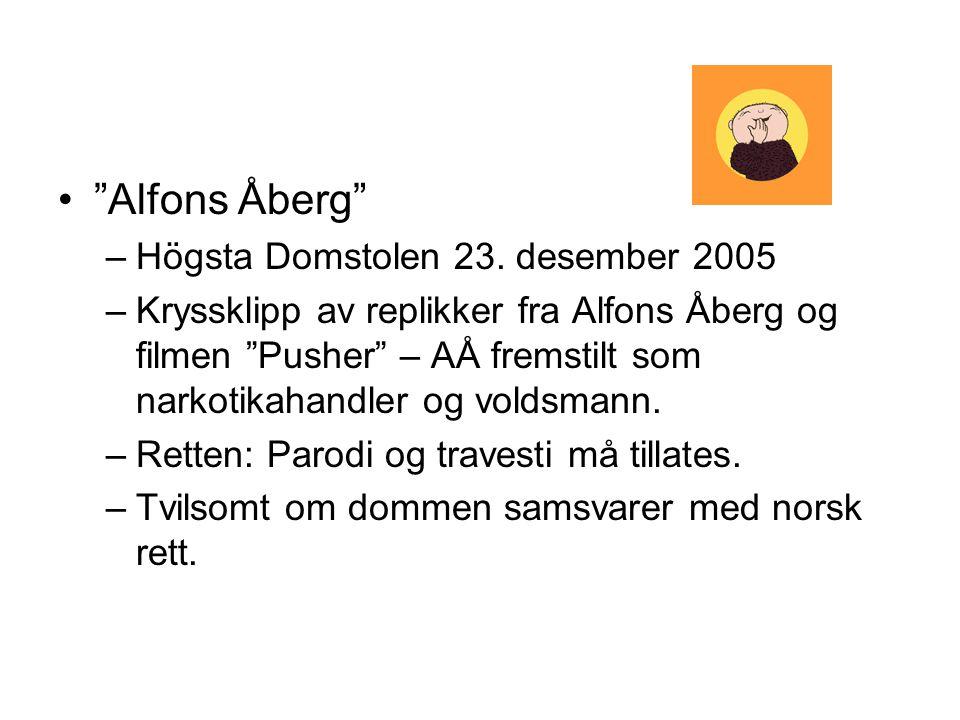 Alfons Åberg Högsta Domstolen 23. desember 2005