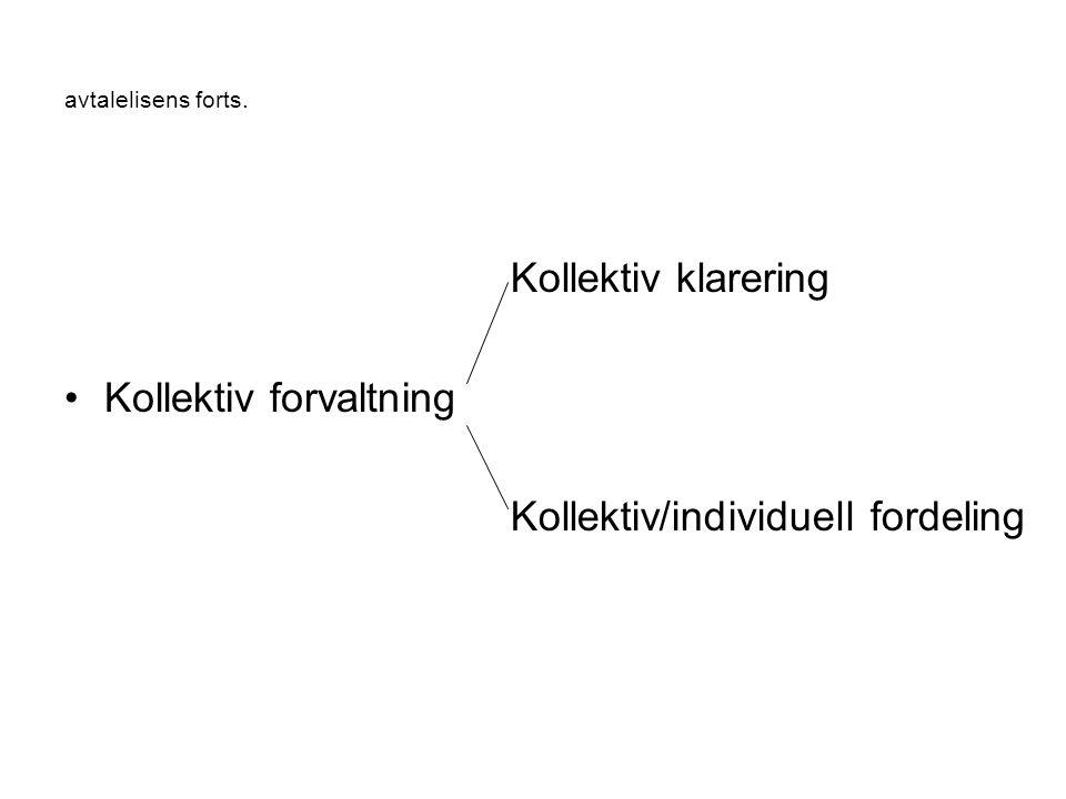 Kollektiv forvaltning Kollektiv klarering