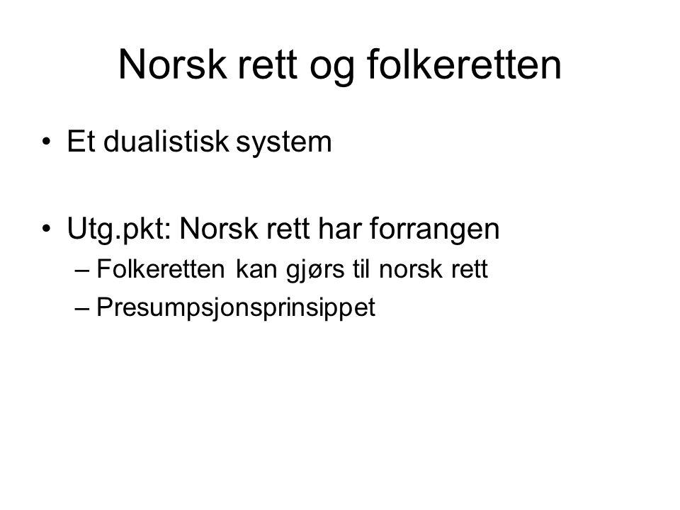Norsk rett og folkeretten