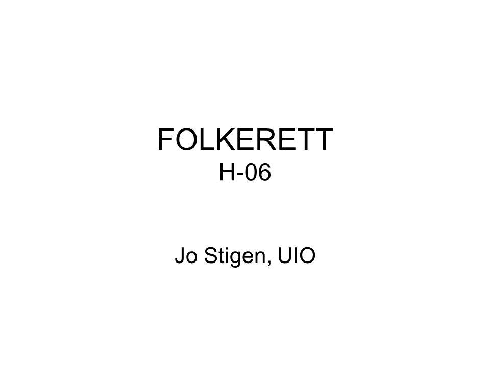 FOLKERETT H-06 Jo Stigen, UIO
