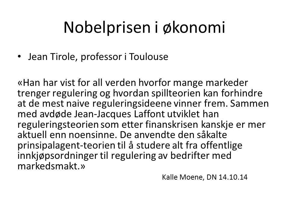 Nobelprisen i økonomi Jean Tirole, professor i Toulouse