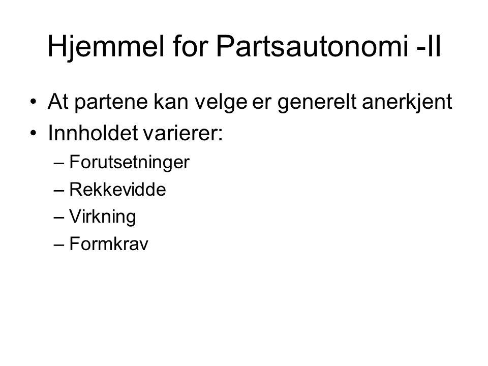 Hjemmel for Partsautonomi -II