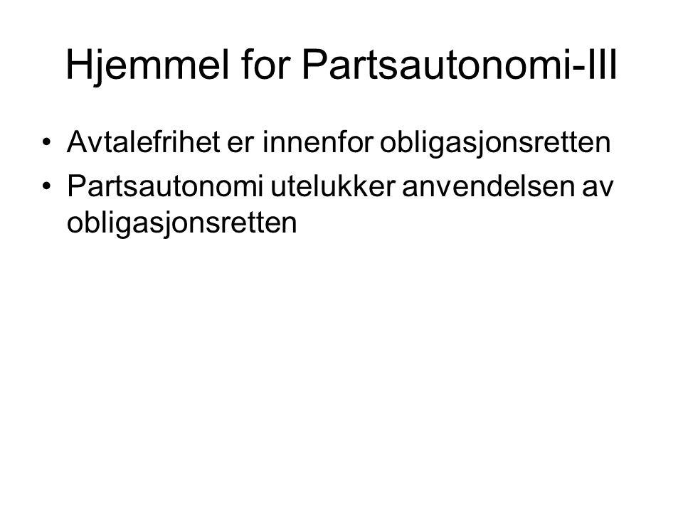 Hjemmel for Partsautonomi-III