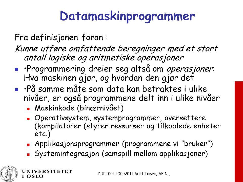 Datamaskinprogrammer