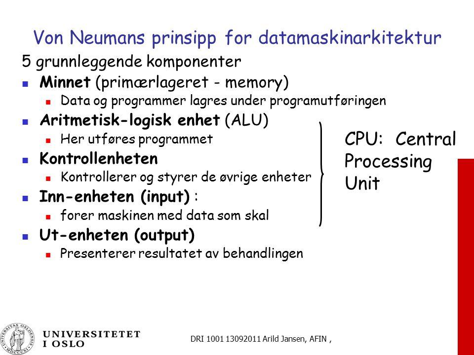 Von Neumans prinsipp for datamaskinarkitektur