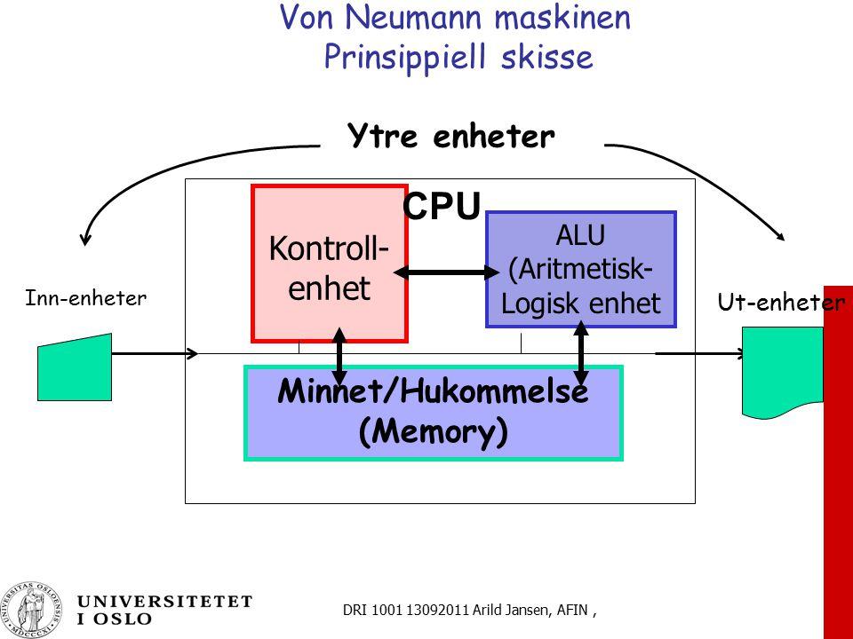 Von Neumann maskinen Prinsippiell skisse