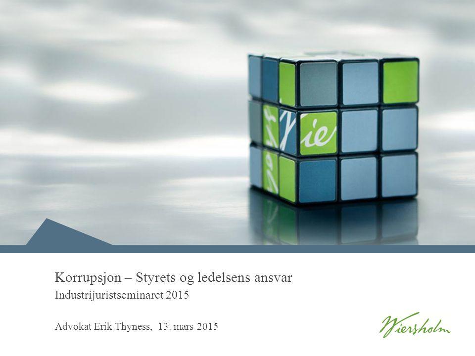 Korrupsjon – Styrets og ledelsens ansvar