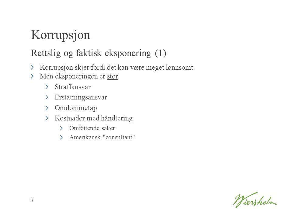 Korrupsjon Rettslig og faktisk eksponering (1)