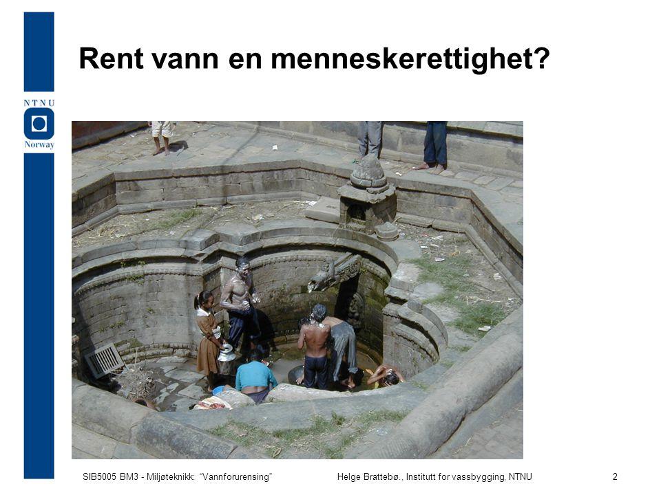 Rent vann en menneskerettighet
