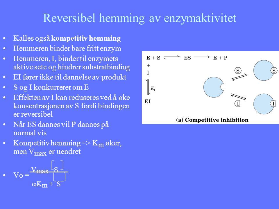 Reversibel hemming av enzymaktivitet
