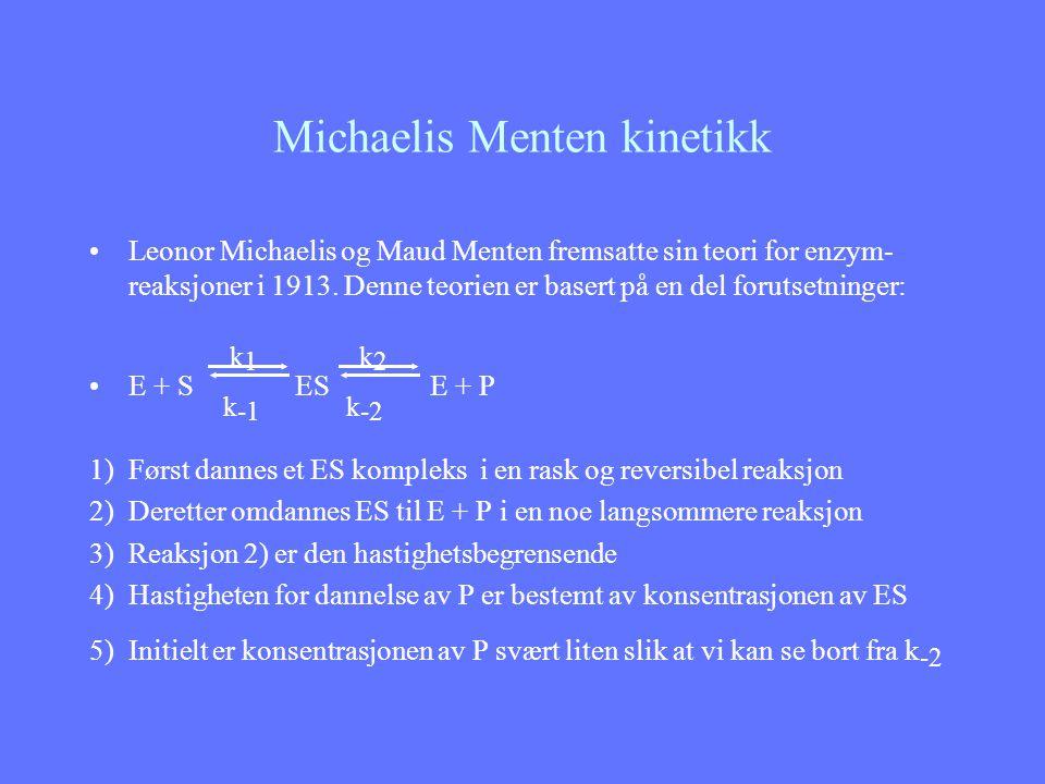 Michaelis Menten kinetikk