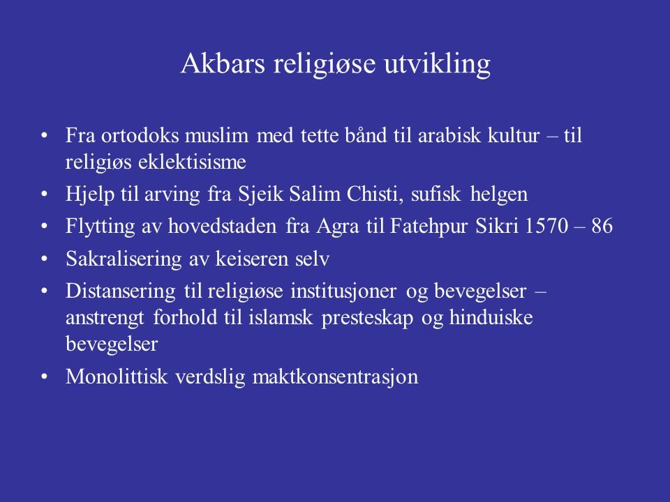 Akbars religiøse utvikling