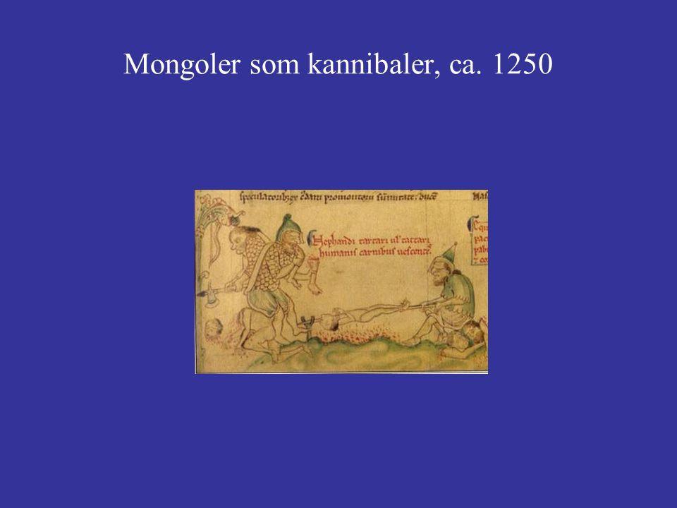 Mongoler som kannibaler, ca. 1250