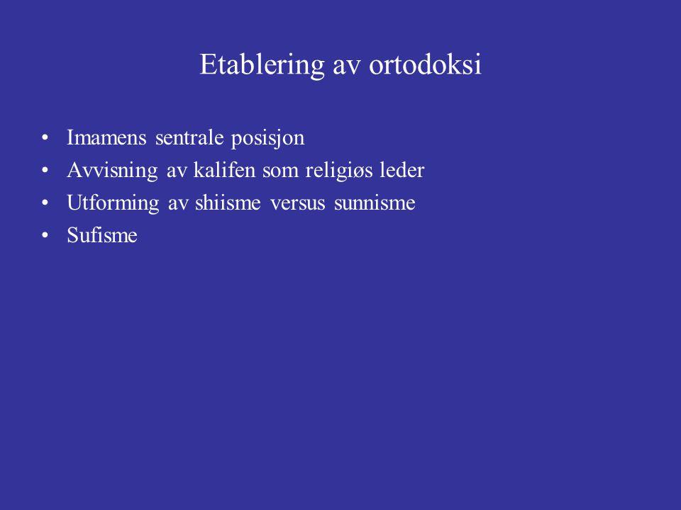 Etablering av ortodoksi