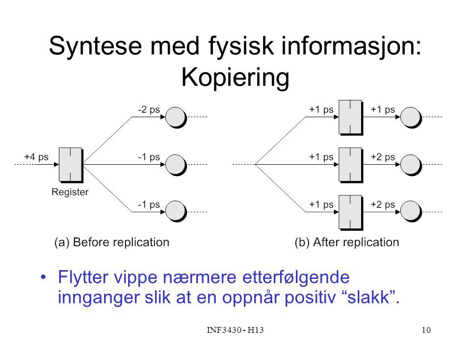Syntese med fysisk informasjon: Kopiering