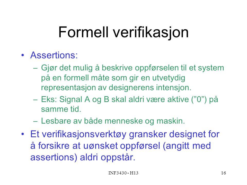 Formell verifikasjon Assertions: