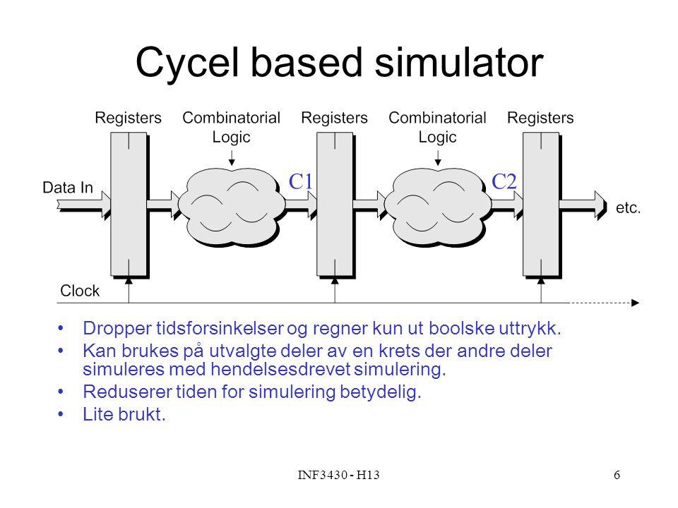 Cycel based simulator C1 C2