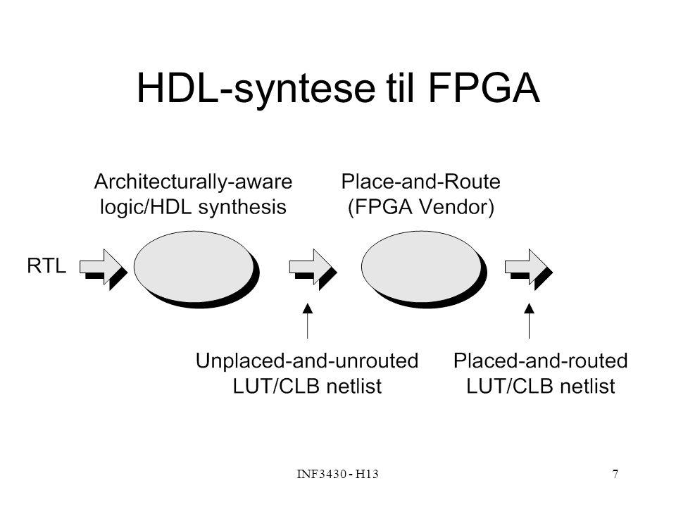 HDL-syntese til FPGA INF3430 - H13