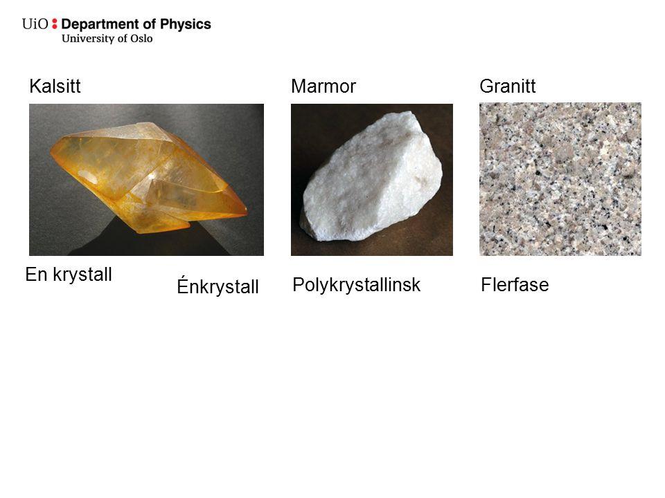 Kalsitt Marmor Granitt En krystall Énkrystall Polykrystallinsk Flerfase
