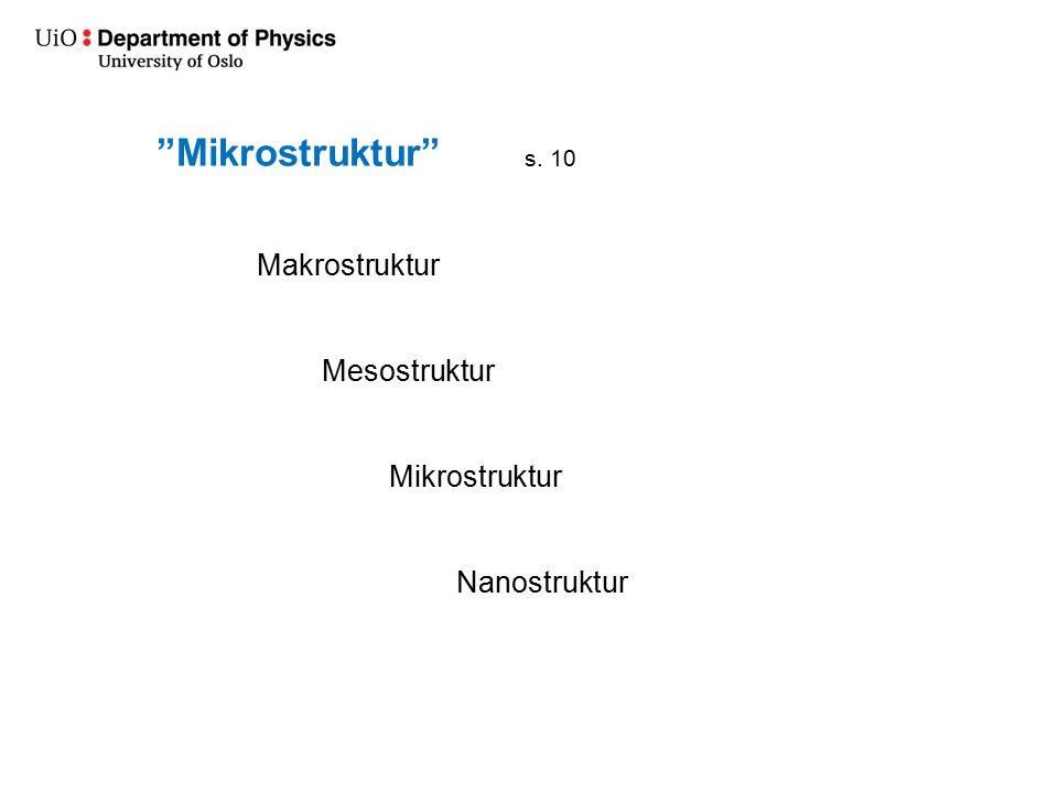 Mikrostruktur Makrostruktur Mesostruktur Mikrostruktur Nanostruktur