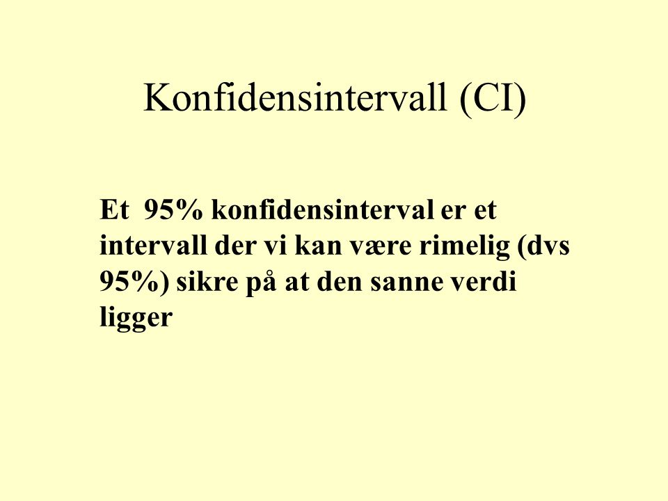 Konfidensintervall (CI)