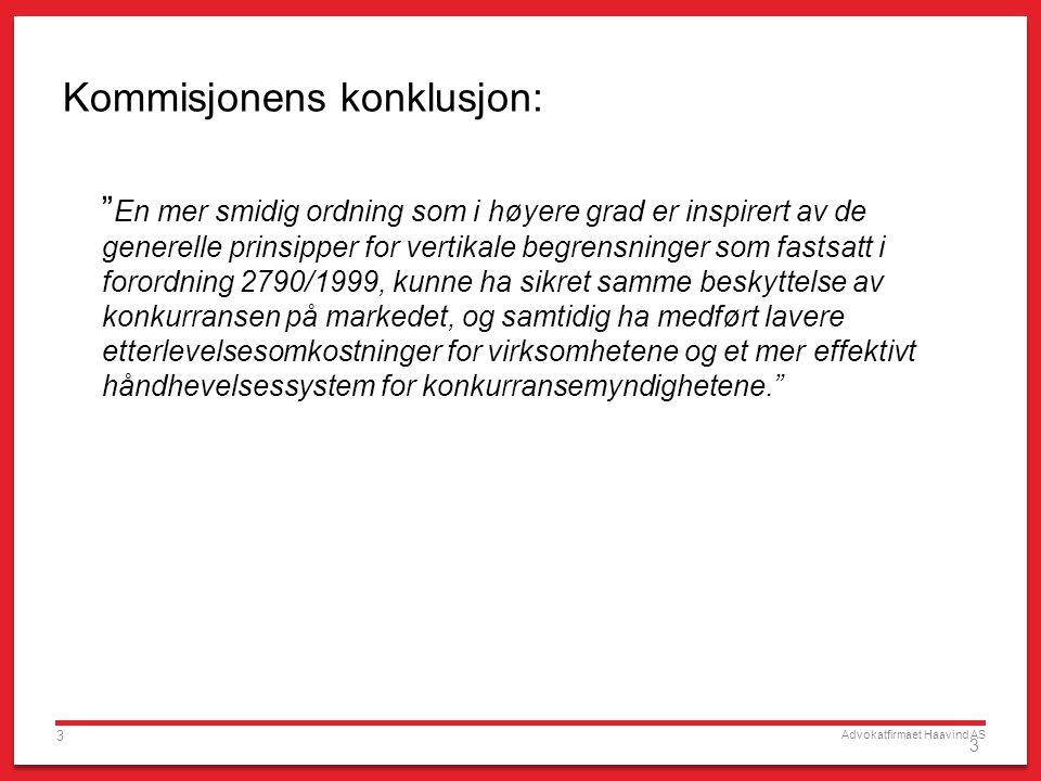 Kommisjonens konklusjon: