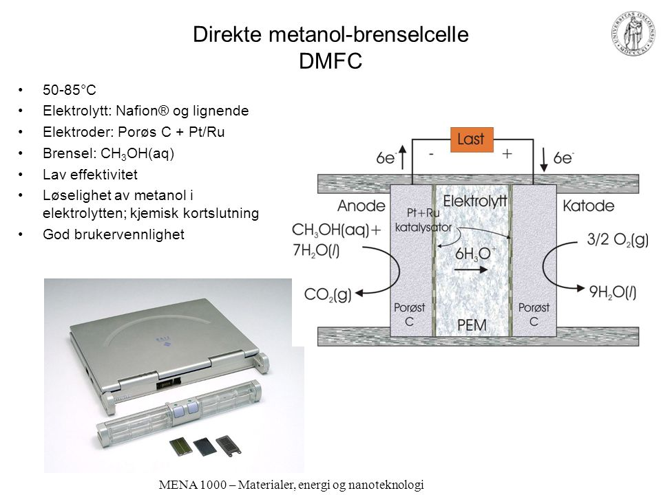 Direkte metanol-brenselcelle DMFC