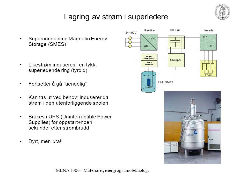 Lagring av strøm i superledere