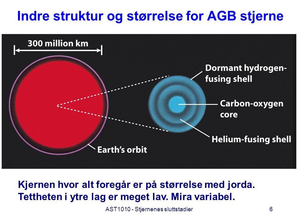 Indre struktur og størrelse for AGB stjerne